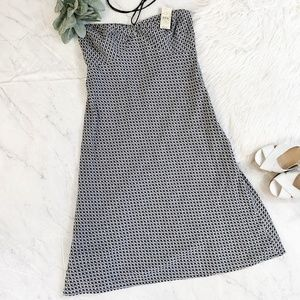 LOFT Black & White Gingham Plaid Halter Dress